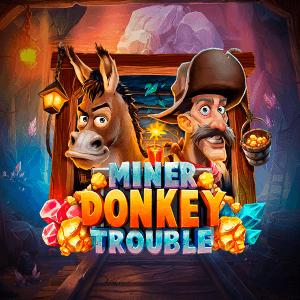 Miner Donkey Trouble logo achtergrond