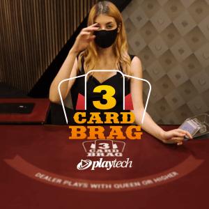 3 Card Brag Poker logo achtergrond