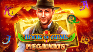 Book of Gems Megaways logo achtergrond