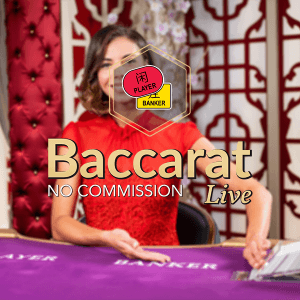 No Commission Baccarat logo achtergrond