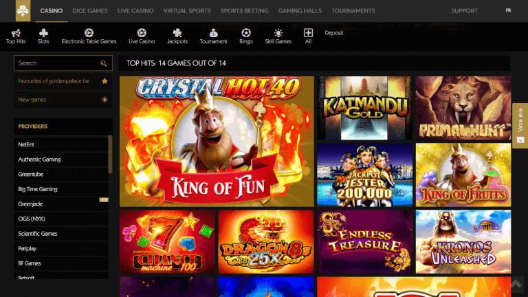 Golden Palace Casino Screenshot 2