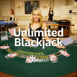 Unlimited Blackjack logo achtergrond