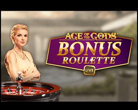 Age of the Gods Bonus Roulette logo achtergrond