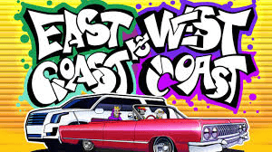 East Coast vs West  Coast logo achtergrond