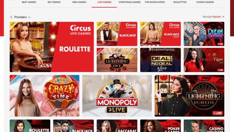 Circus Casino Screenshot 3