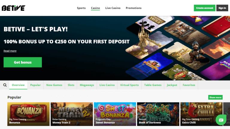 Betive Casino Screenshot 1