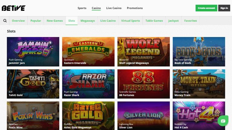 Betive Casino Screenshot 2