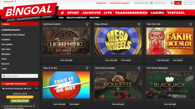 Bingoal Casino Screenshot 1