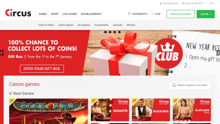 Circus Casino Screenshot 1