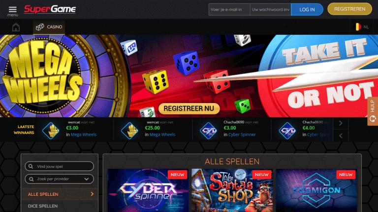 SuperGame Casino Screenshot 1