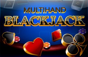 Multihand Blackjack logo achtergrond