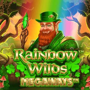 Rainbow Wilds Megaways logo achtergrond