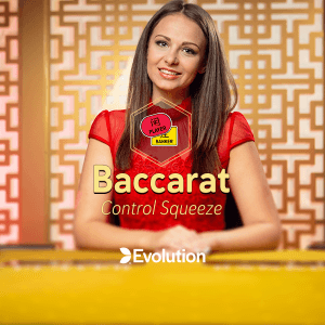 Live Baccarat Control Squeeze logo achtergrond