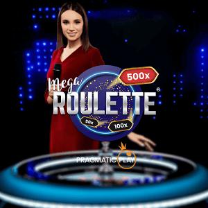 Mega Roulette logo achtergrond