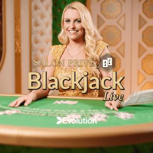 Salon Prive Blackjack logo achtergrond