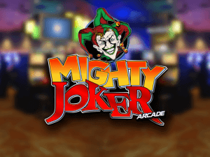 Mighty Joker Arcade side logo review