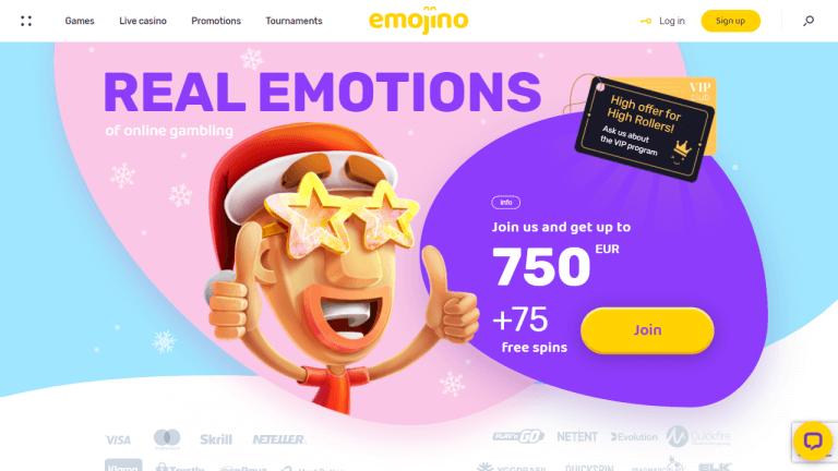 Emojino Casino Screenshot 1