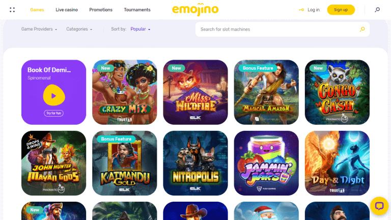 Emojino Casino Screenshot 2