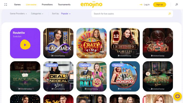 Emojino Casino Screenshot 3