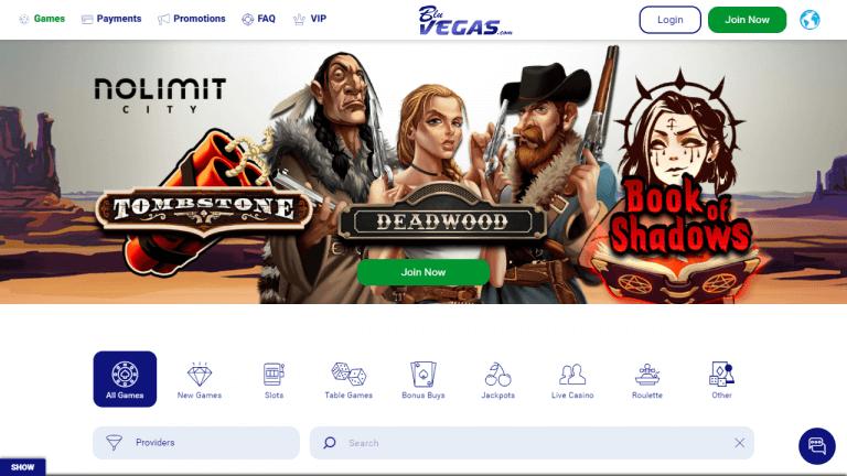 BluVegas Casino Screenshot 1