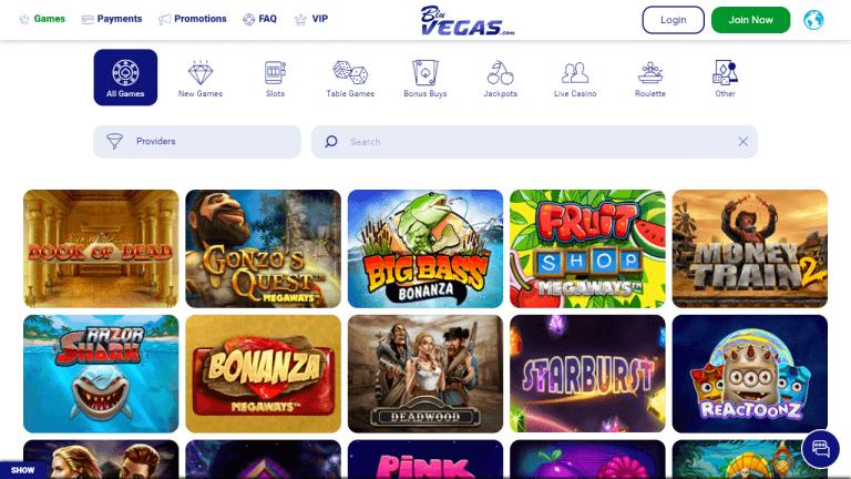 BluVegas Casino Screenshot 2