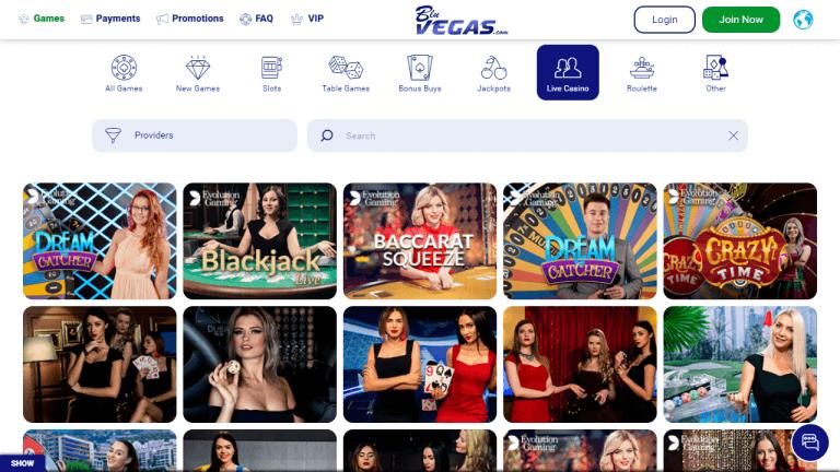 BluVegas Casino Screenshot 3
