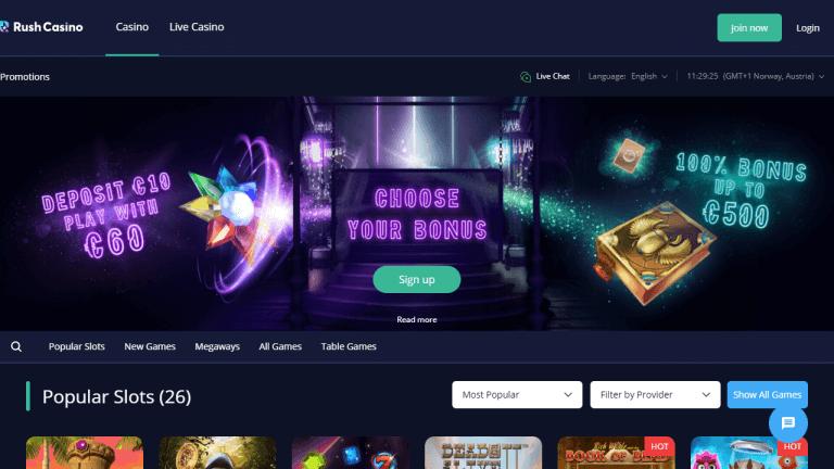 Rush Casino Screenshot 1