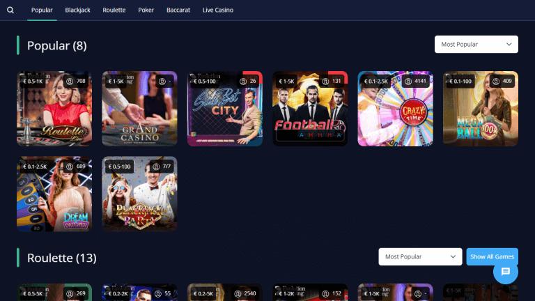 Rush Casino Screenshot 3