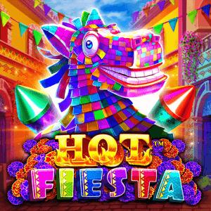 Hot Fiesta logo achtergrond