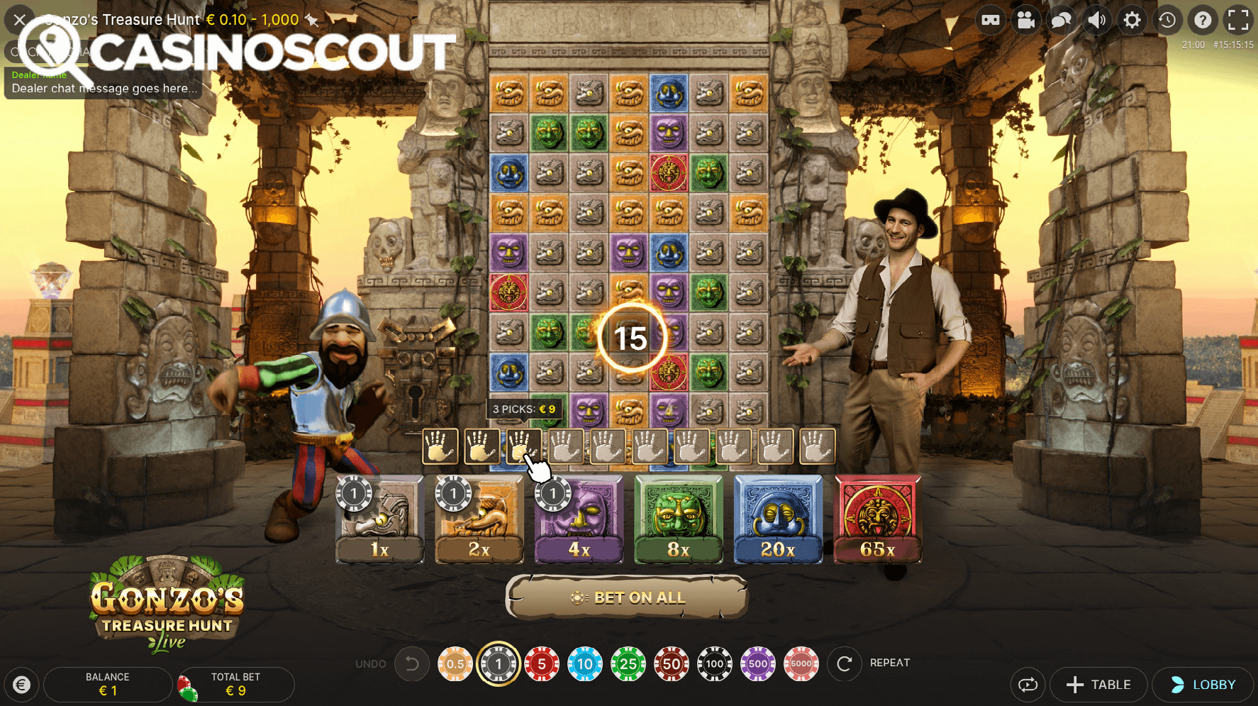 CasinoScout Gonzo's Quest Live