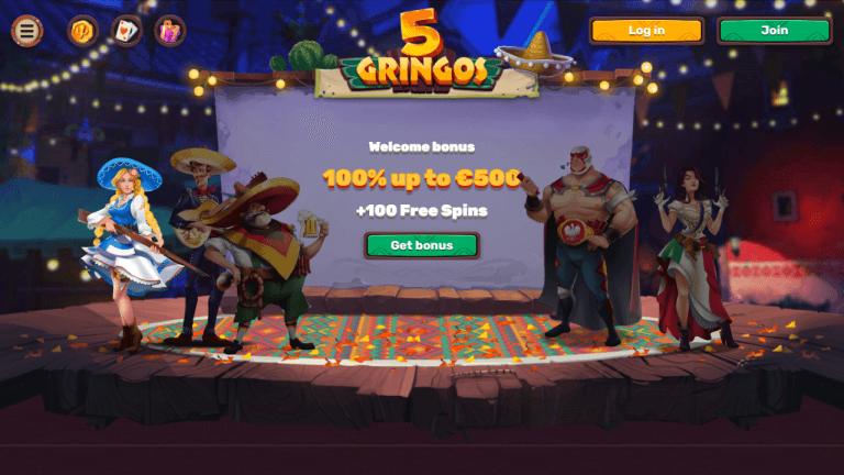 5 Gringos Casino Screenshot 1