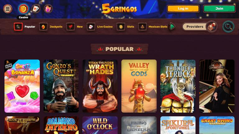 5 Gringos Casino Screenshot 2