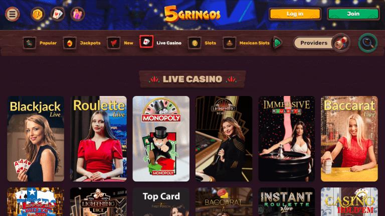 5 Gringos Casino Screenshot 3