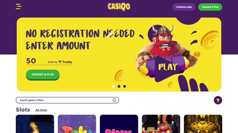 Casiqo Casino Screenshot 1