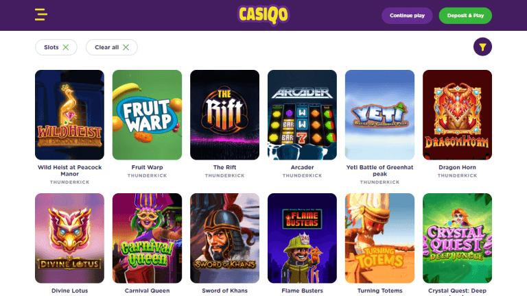 Casiqo Casino Screenshot 2