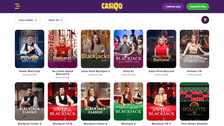 Casiqo Casino Screenshot 3
