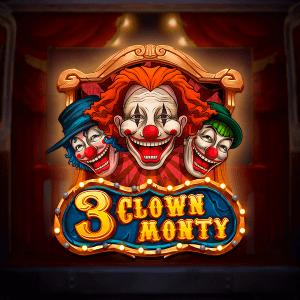 3 Clown Monty logo achtergrond