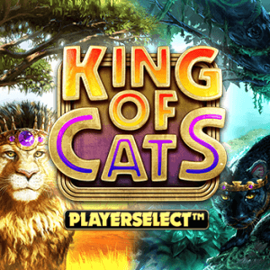 King of Cats Megaways logo achtergrond