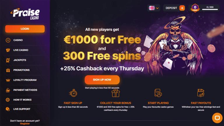 Praise Casino Screenshot 1