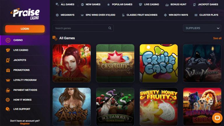 Praise Casino Screenshot 2
