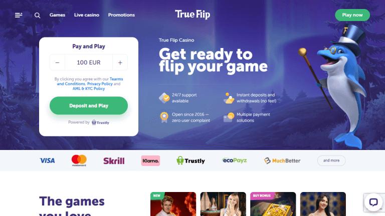 True Flip Casino Screenshot 1