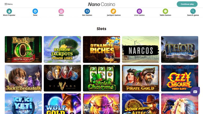 Nano Casino Screenshot 2