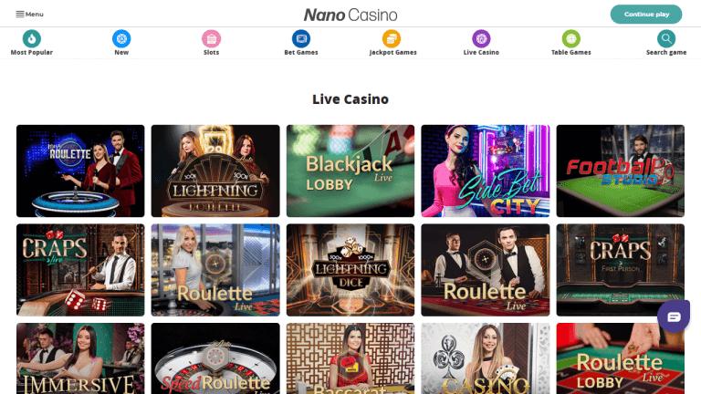 Nano Casino Screenshot 3