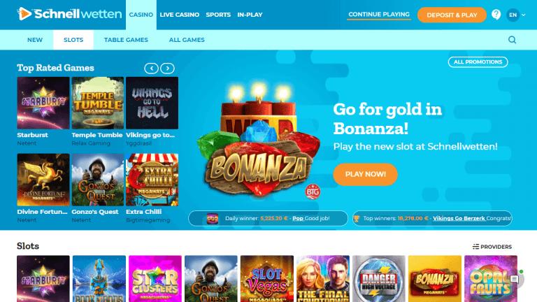 Schnellwetten Casino Screenshot 2