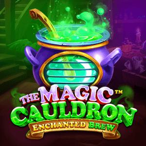 The Magic Cauldron Enchanted Brew logo achtergrond