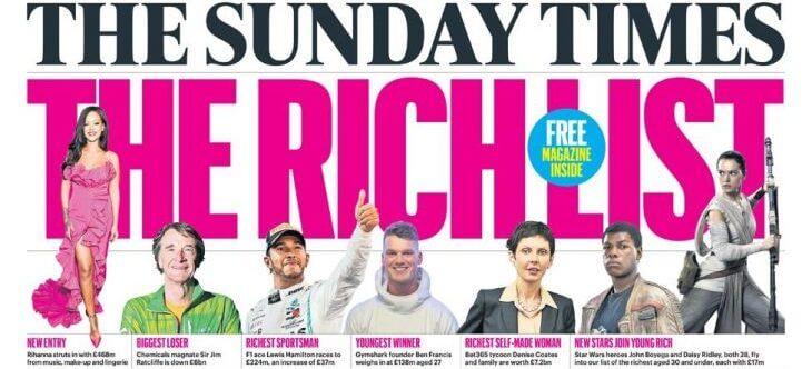 The Sunday Times Rich List 2