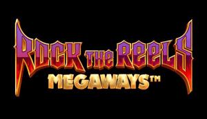 Rock the Reels Megaways logo achtergrond