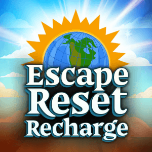 Escape Reset Recharge logo achtergrond