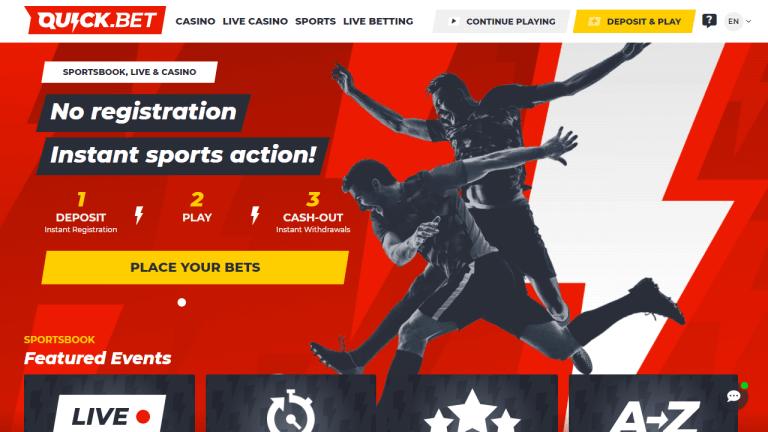 Quick Bet Casino Screenshot 1