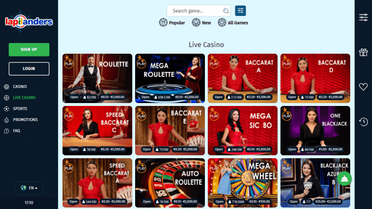 Lapilanders Casino Screenshot 3